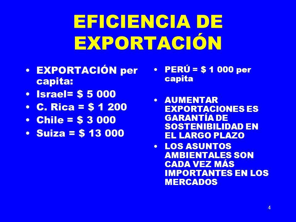EFICIENCIA DE EXPORTACIÓN