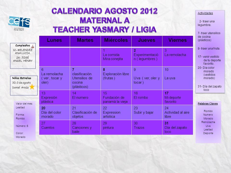 TEACHER YASMARY / LIGIA
