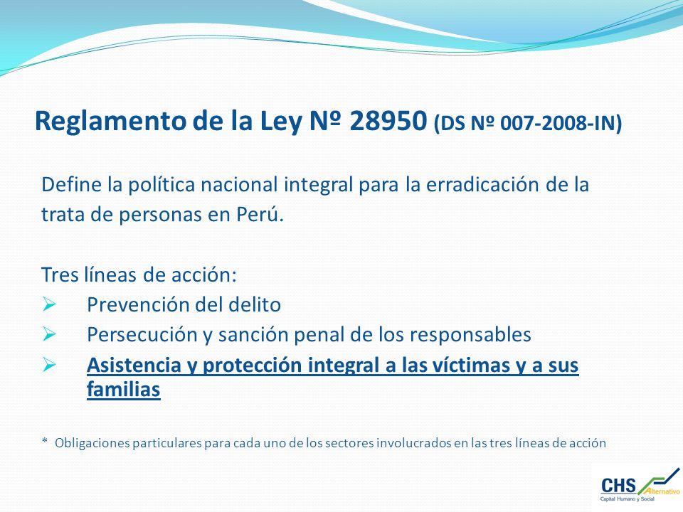 Reglamento de la Ley Nº 28950 (DS Nº 007-2008-IN)