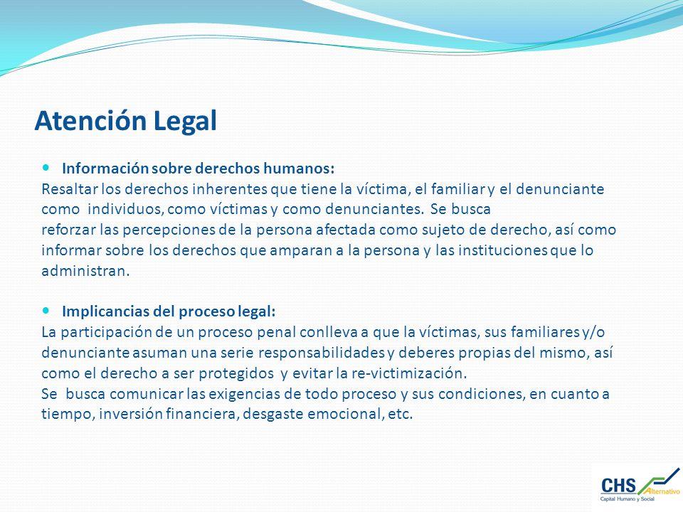 Atención Legal Información sobre derechos humanos: