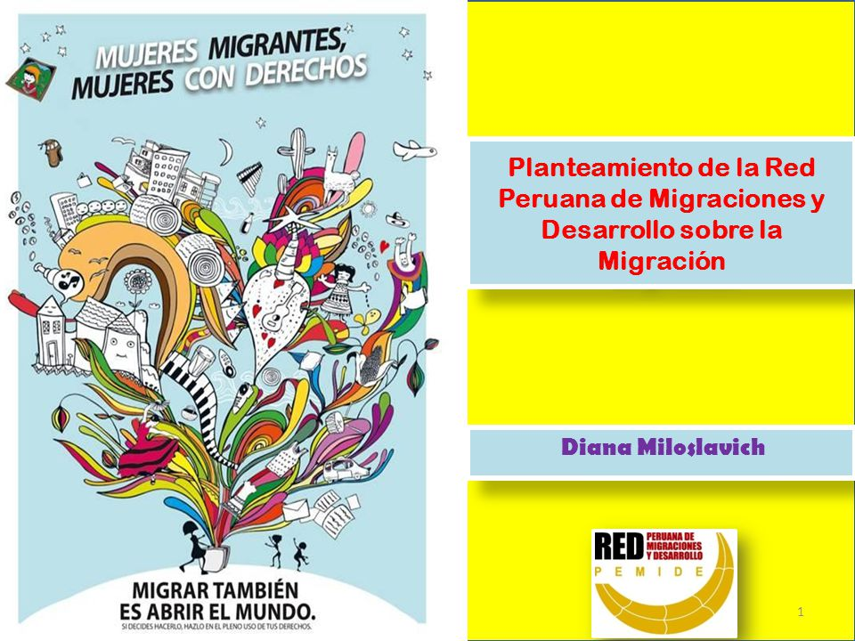 Planteamiento de la Red Peruana de Migraciones y Desarrollo sobre la Migración