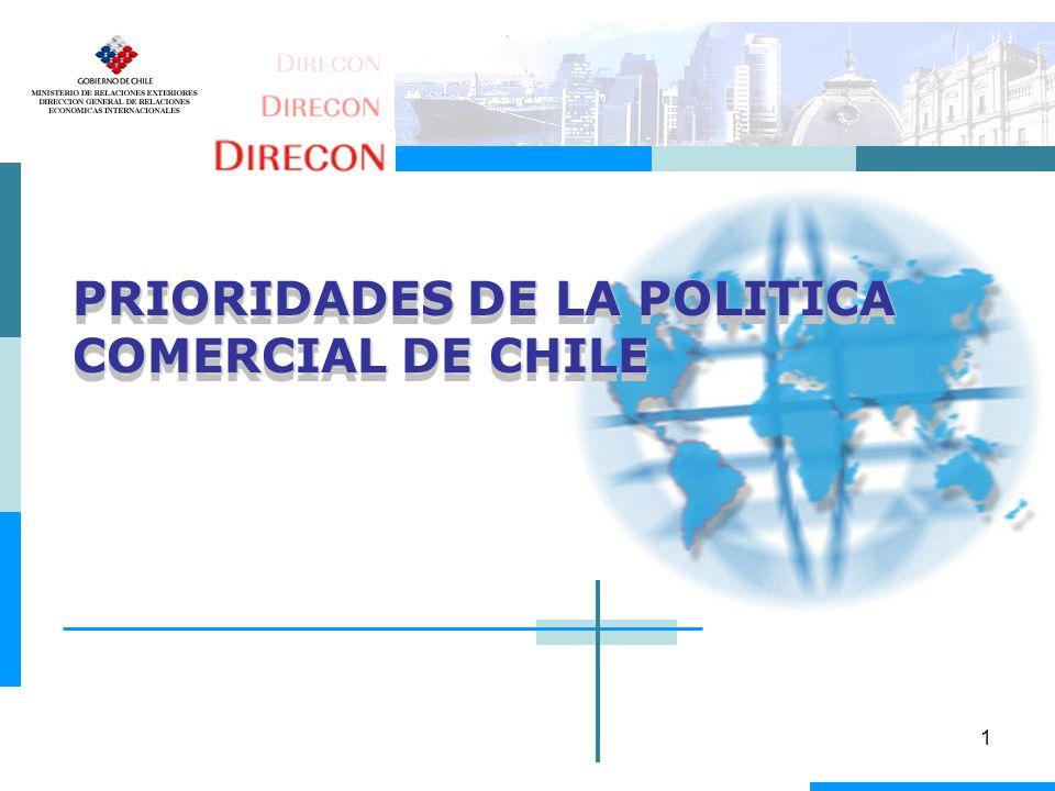 PRIORIDADES DE LA POLITICA COMERCIAL DE CHILE