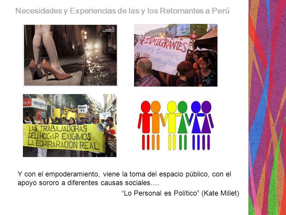 Necesidades y Experiencias de las y los Retornantes a Perú
