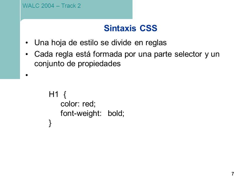 Sintaxis CSS Una hoja de estilo se divide en reglas