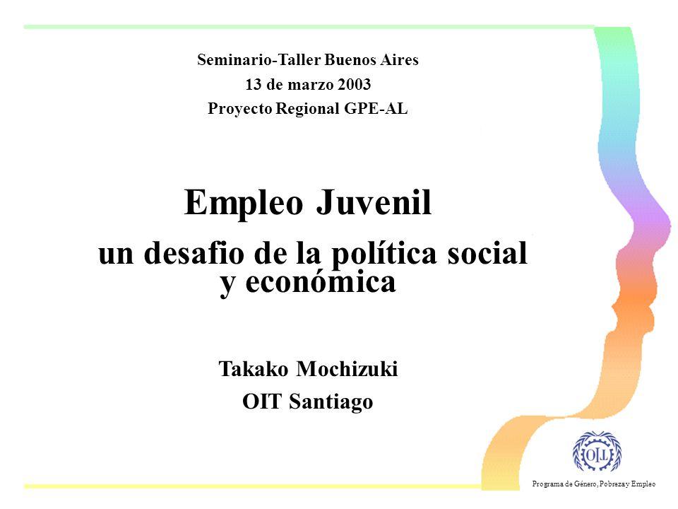 Empleo Juvenil un desafio de la política social y económica
