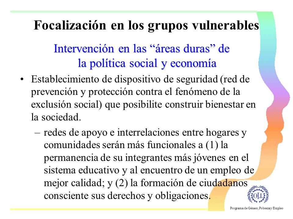 Focalización en los grupos vulnerables