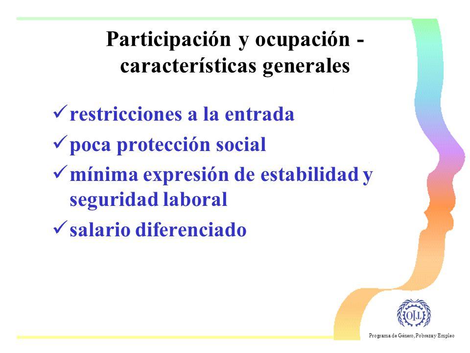 Participación y ocupación -características generales