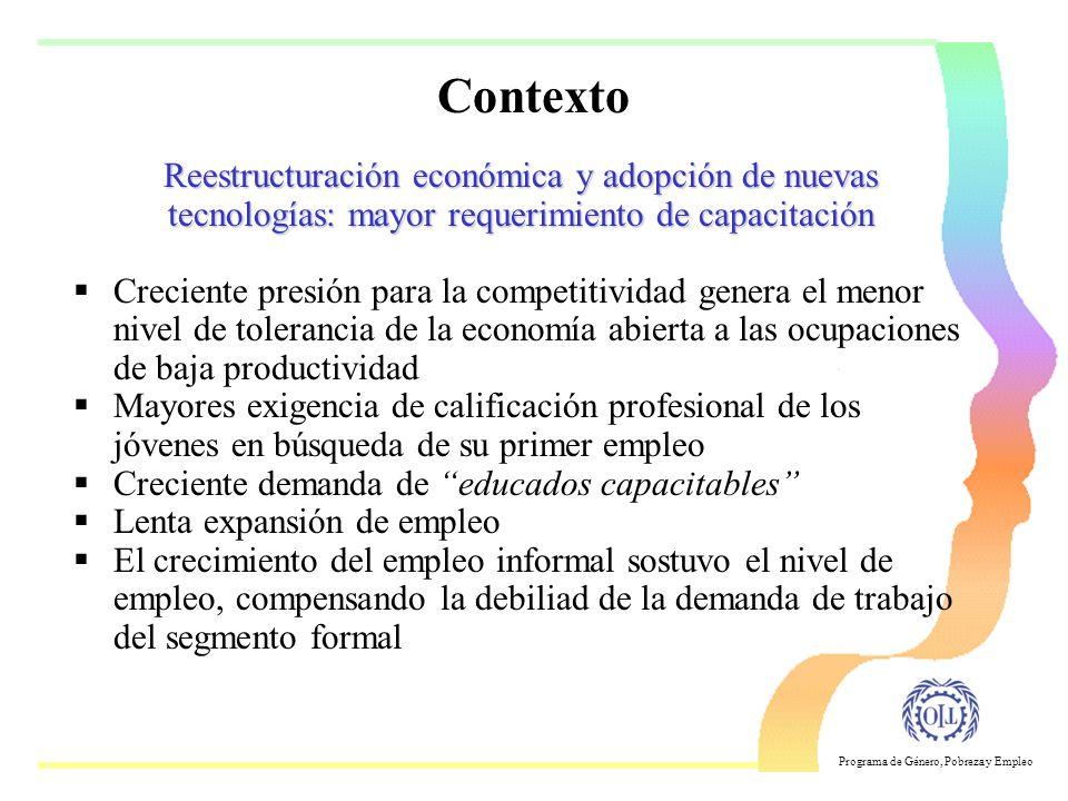 Contexto Reestructuración económica y adopción de nuevas