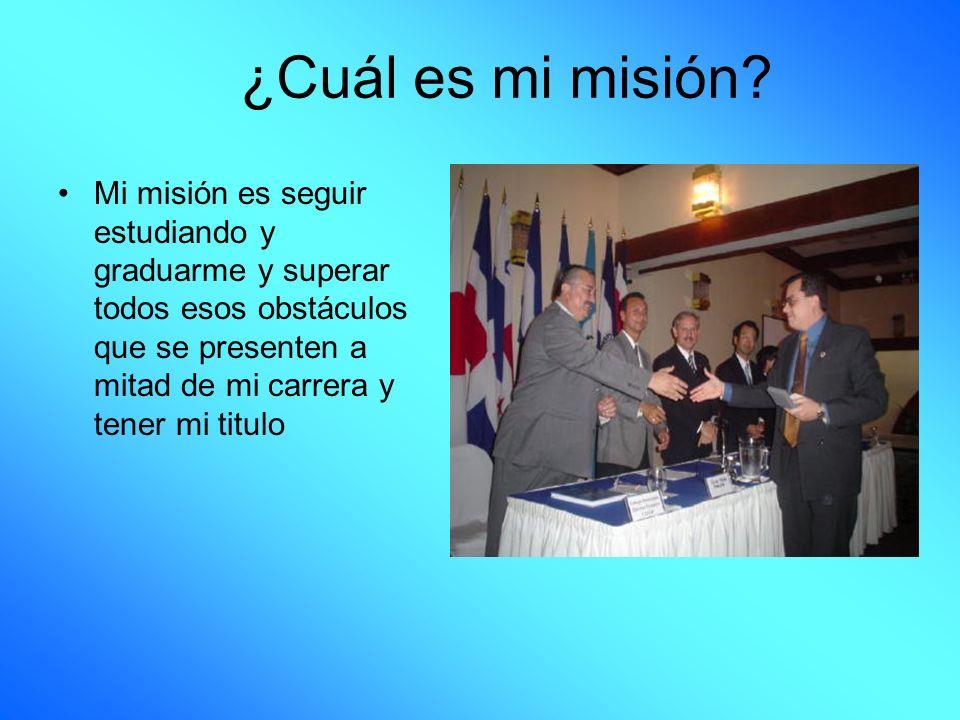 ¿Cuál es mi misión