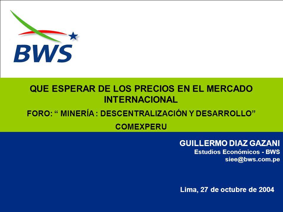 QUE ESPERAR DE LOS PRECIOS EN EL MERCADO INTERNACIONAL