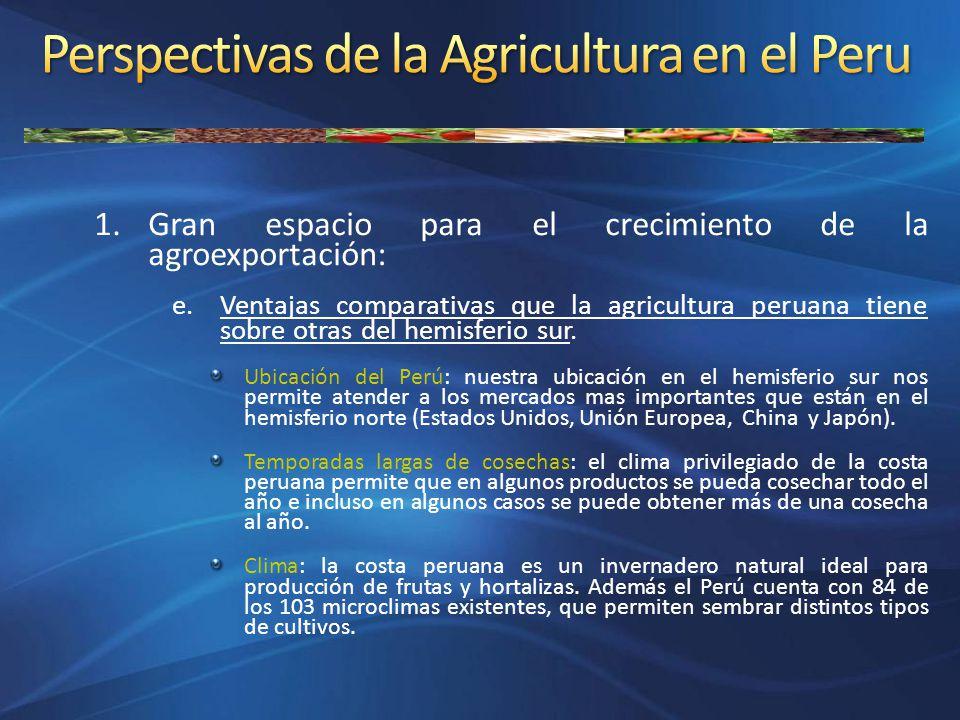 Perspectivas de la Agricultura en el Peru
