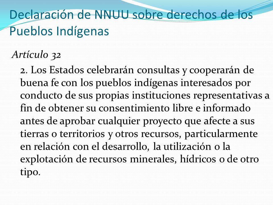 Declaración de NNUU sobre derechos de los Pueblos Indígenas