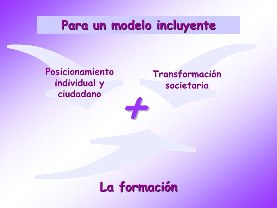 + Para un modelo incluyente La formación