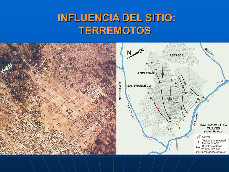 INFLUENCIA DEL SITIO: TERREMOTOS