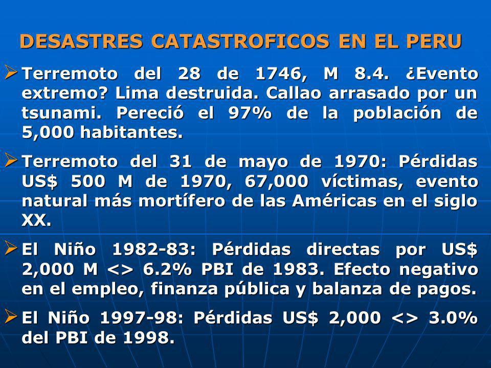 DESASTRES CATASTROFICOS EN EL PERU