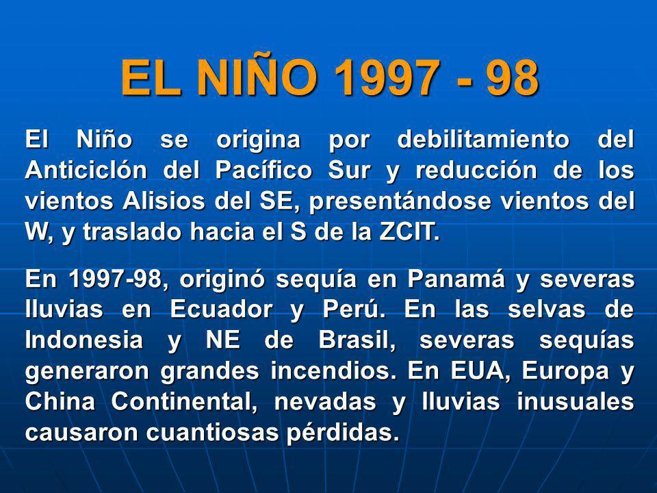 EL NIÑO 1997 - 98