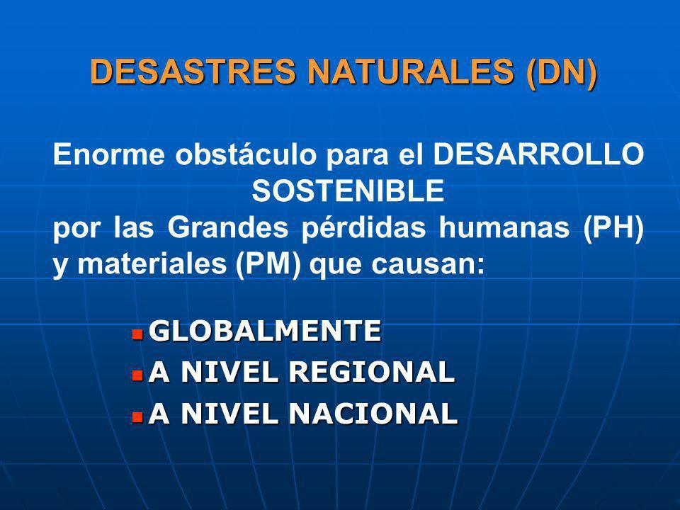 DESASTRES NATURALES (DN)