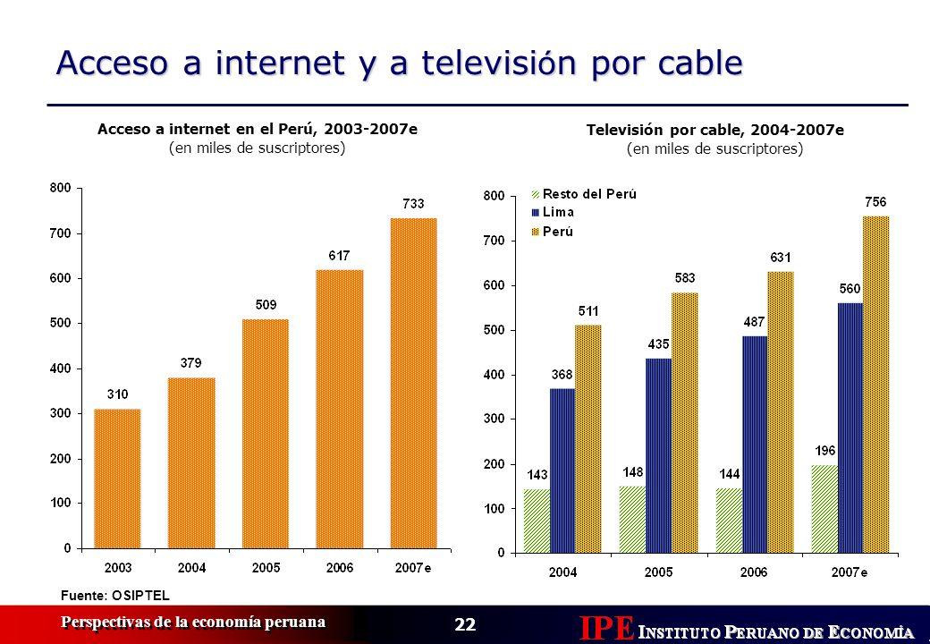 Acceso a internet y a televisión por cable