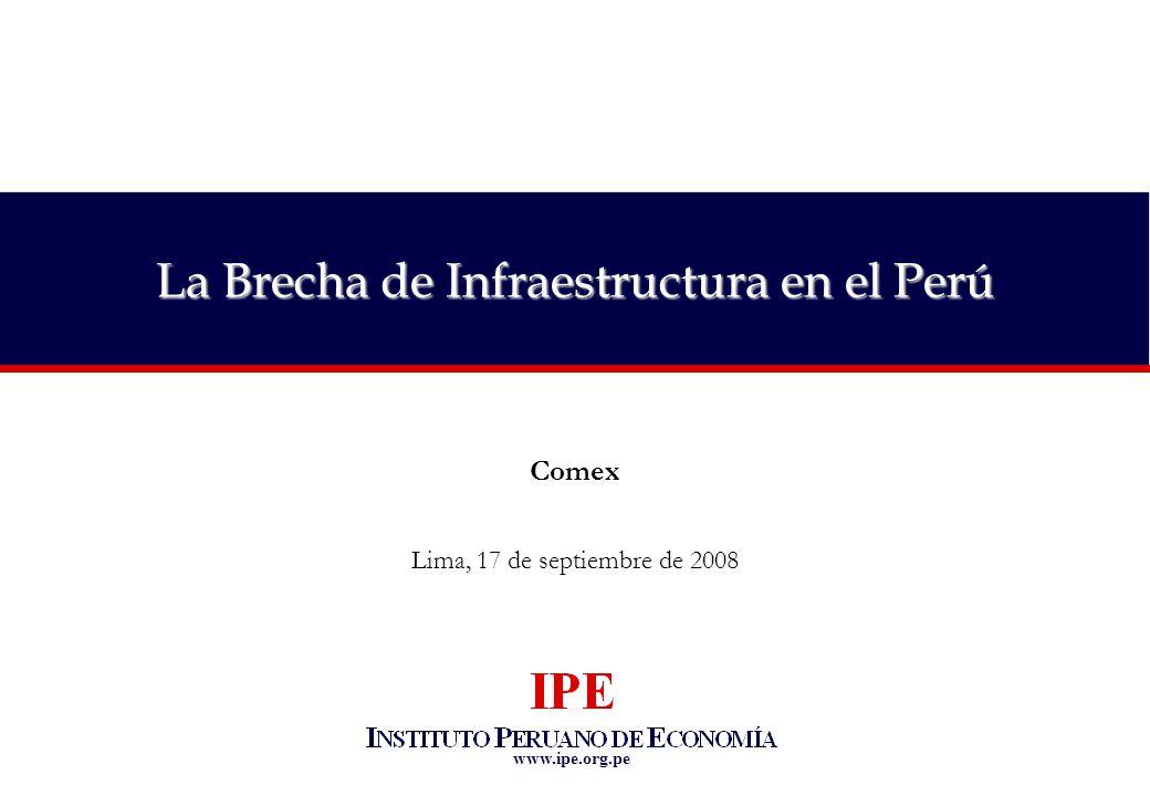 La Brecha de Infraestructura en el Perú