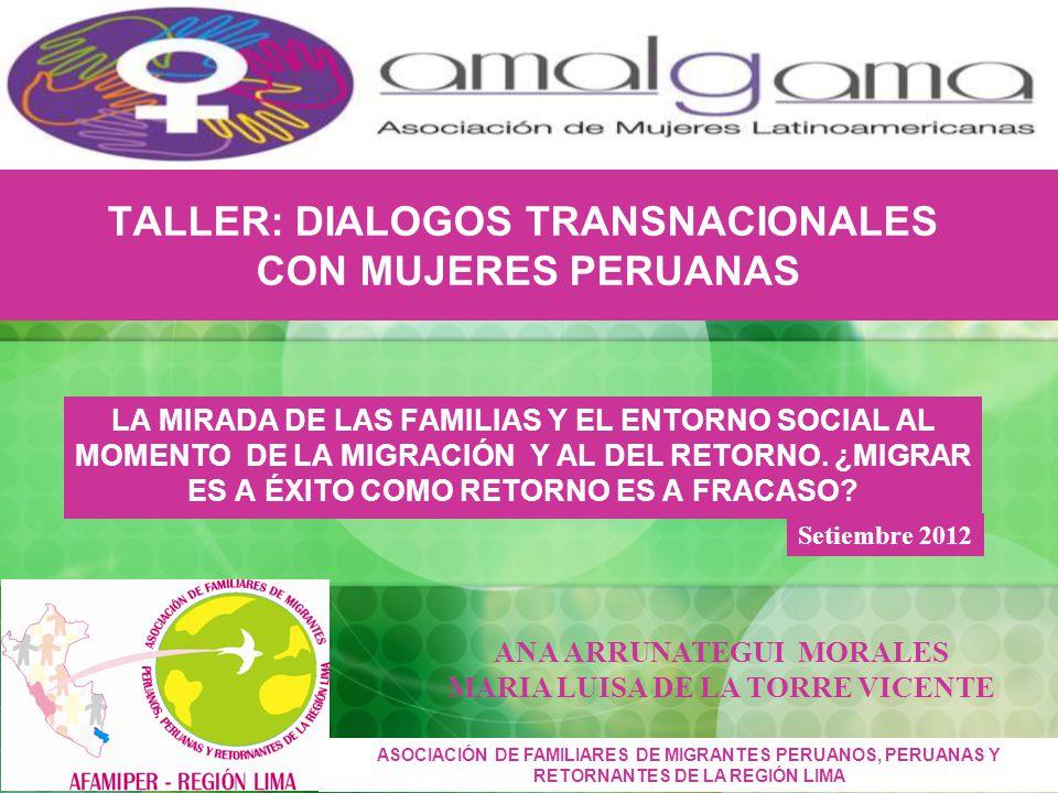 TALLER: DIALOGOS TRANSNACIONALES CON MUJERES PERUANAS