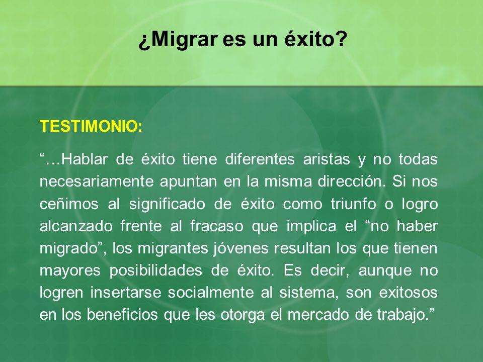 ¿Migrar es un éxito TESTIMONIO: