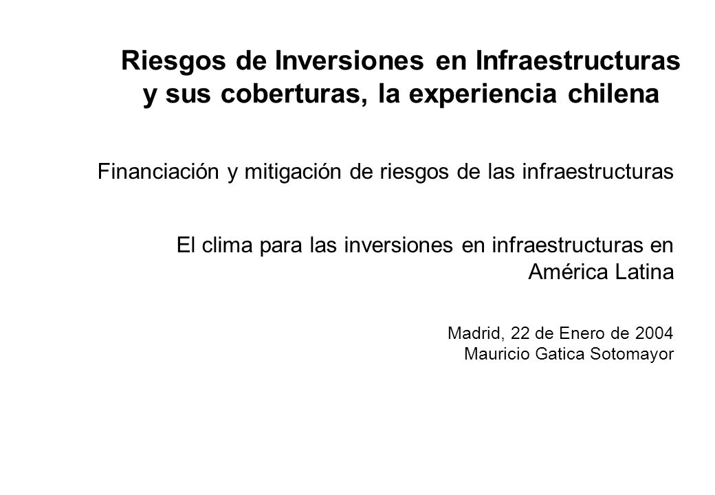 1. El plan de concesiones de Chile: Marco regulatorio
