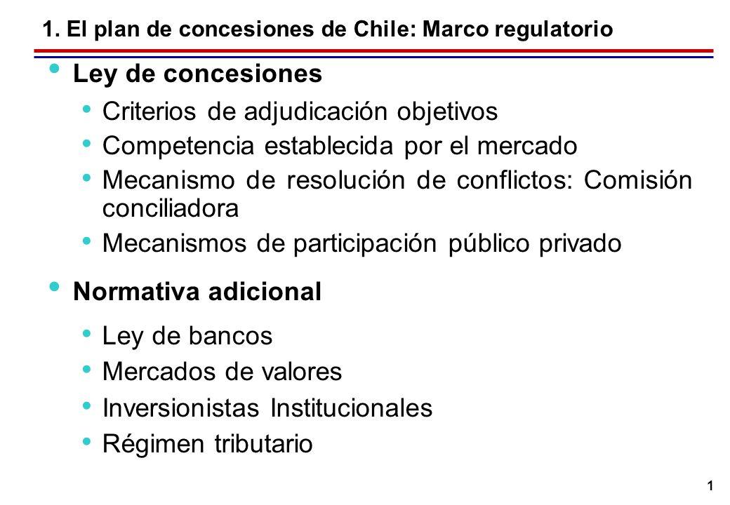 1. El plan de concesiones de Chile: Participación público privada