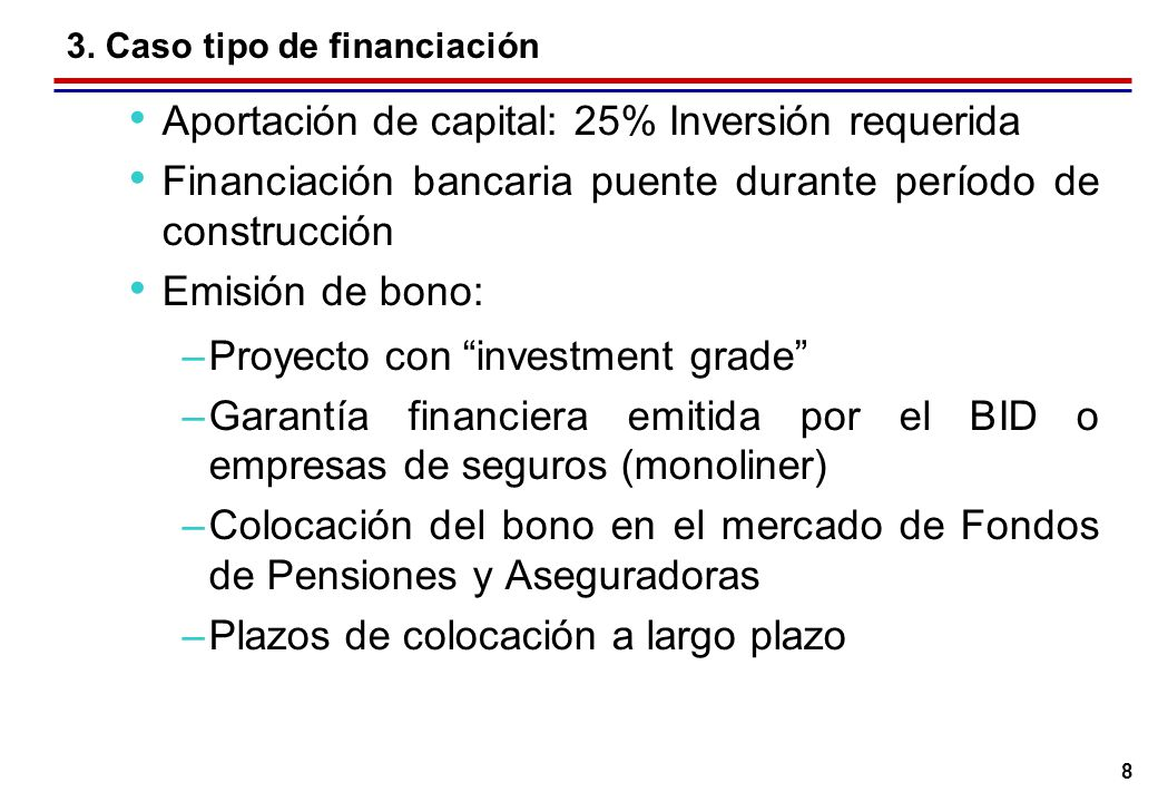 3. Caso prototipo de financiación