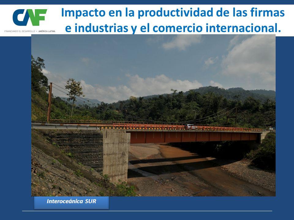 Impacto en la productividad de las firmas e industrias y el comercio internacional.