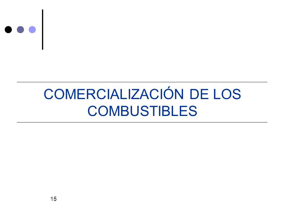 COMERCIALIZACIÓN DE LOS COMBUSTIBLES
