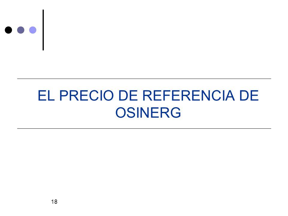 EL PRECIO DE REFERENCIA DE OSINERG