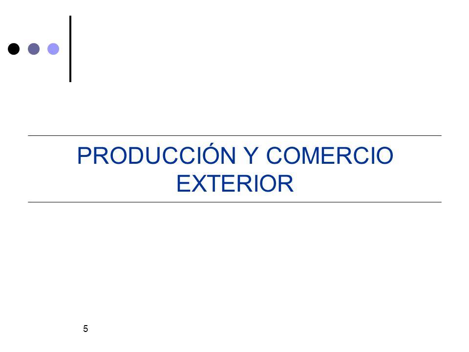 PRODUCCIÓN Y COMERCIO EXTERIOR