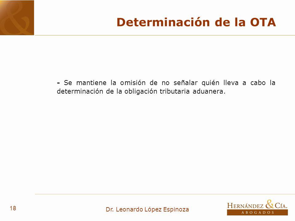 Determinación de la OTA