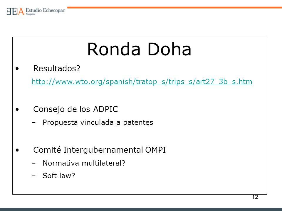 Ronda Doha Resultados Consejo de los ADPIC