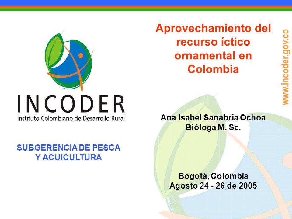 Aprovechamiento del recurso íctico ornamental en Colombia