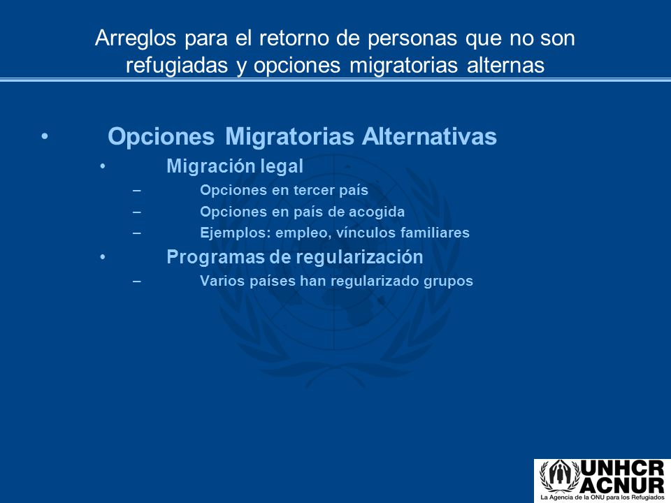 Opciones Migratorias Alternativas