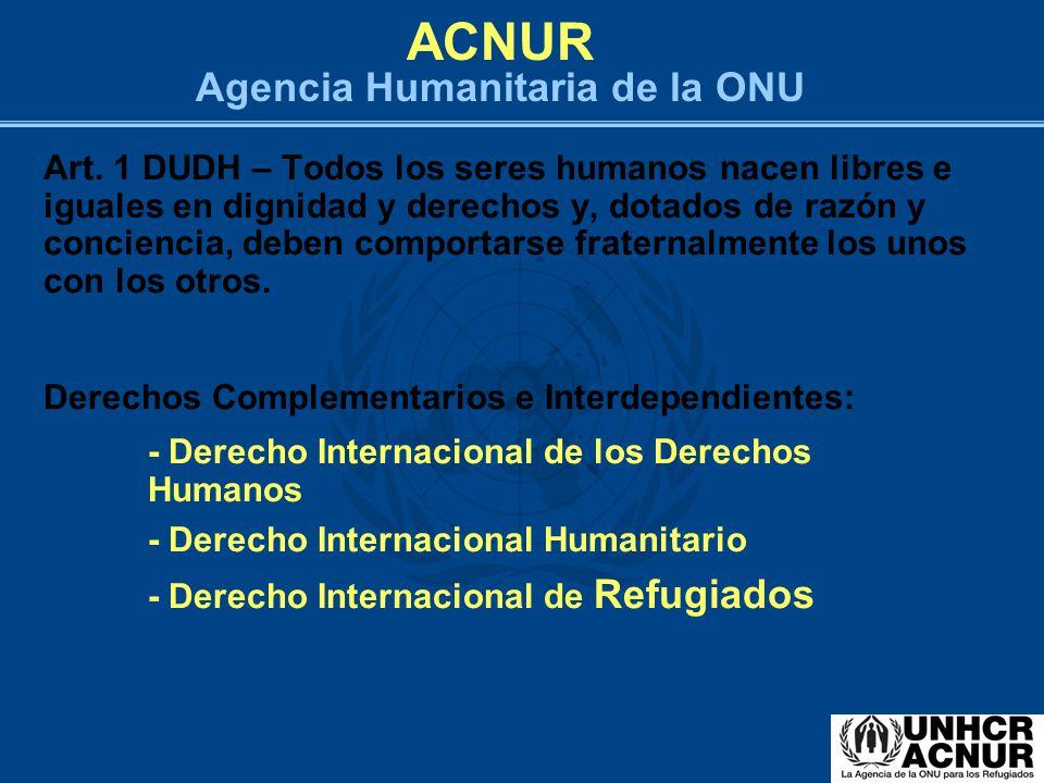 ACNUR Agencia Humanitaria de la ONU
