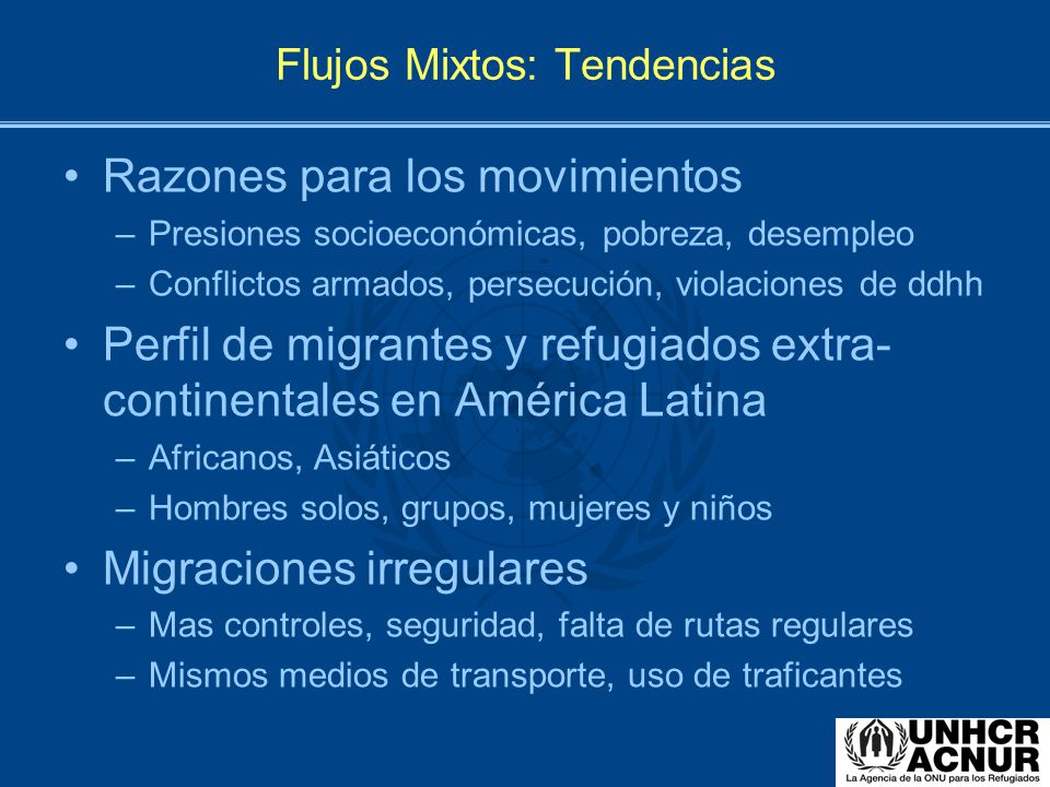 Flujos Mixtos: Tendencias