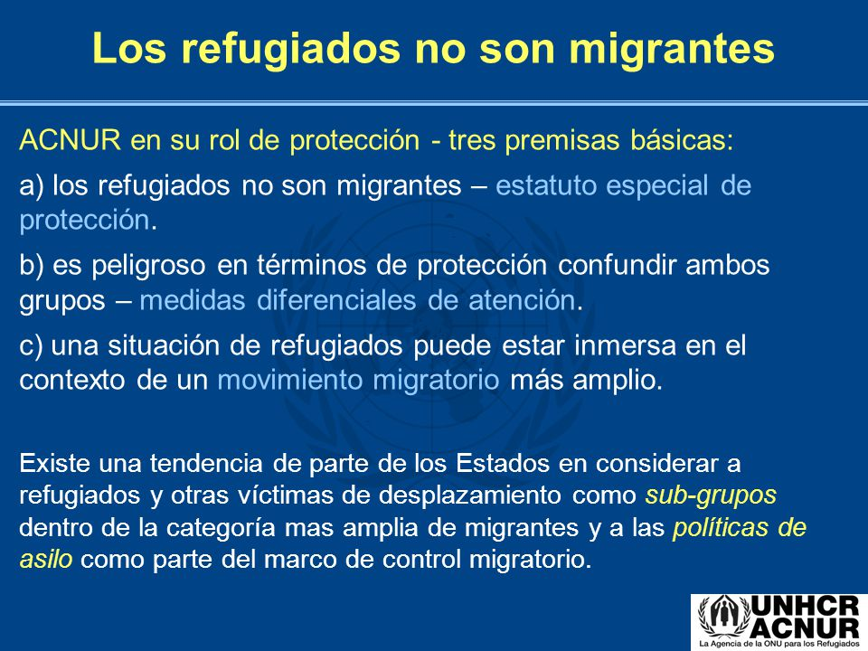 Los refugiados no son migrantes