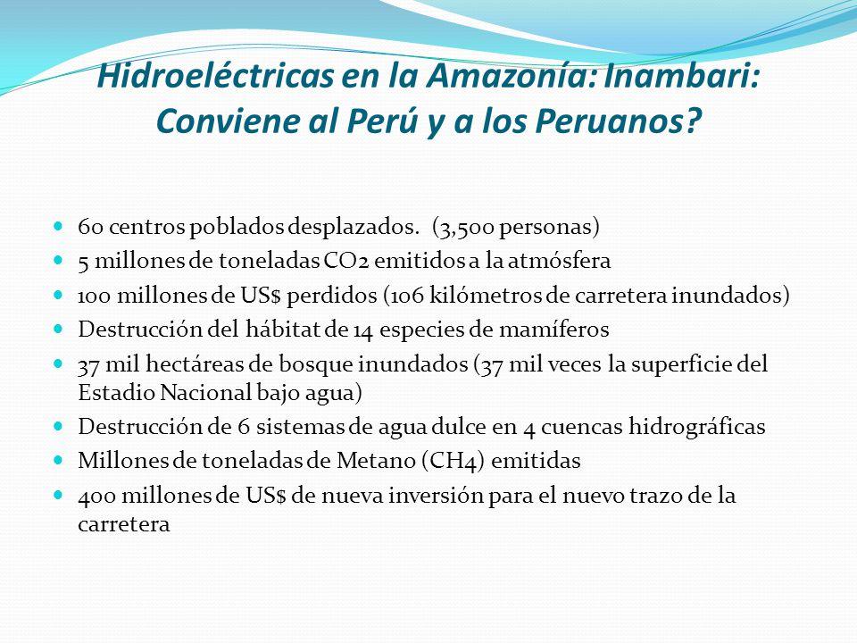 Hidroeléctricas en la Amazonía: Inambari: Conviene al Perú y a los Peruanos
