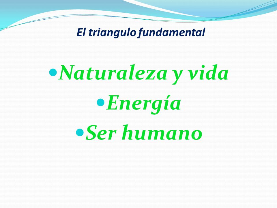 El triangulo fundamental