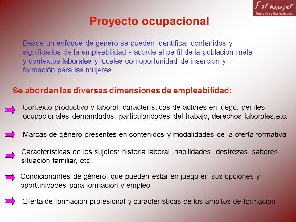 Se abordan las diversas dimensiones de empleabilidad: