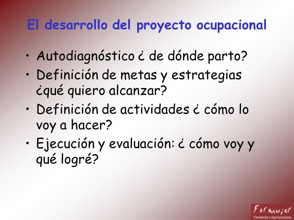 El desarrollo del proyecto ocupacional
