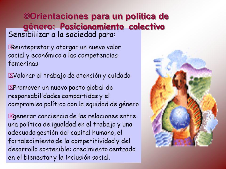 Orientaciones para un política de género: Posicionamiento colectivo