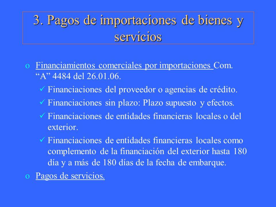 3. Pagos de importaciones de bienes y servicios