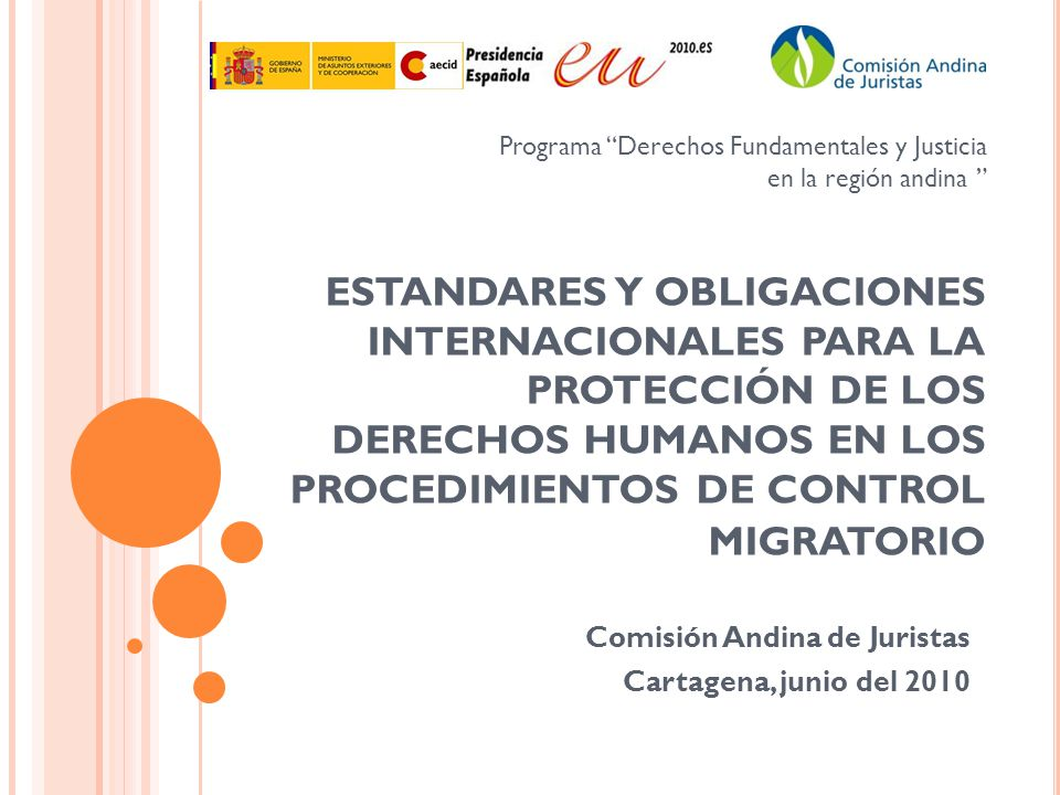 Comisión Andina de Juristas Cartagena, junio del 2010