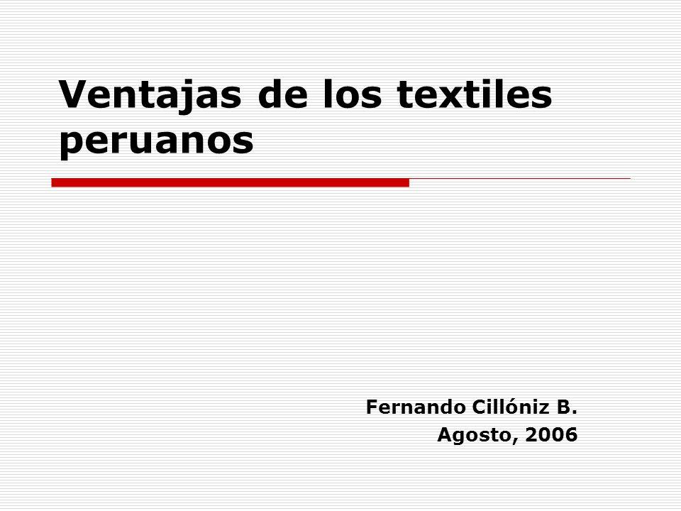 Ventajas de los textiles peruanos