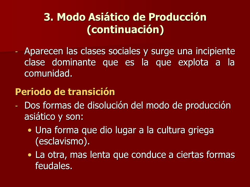 3. Modo Asiático de Producción (continuación)
