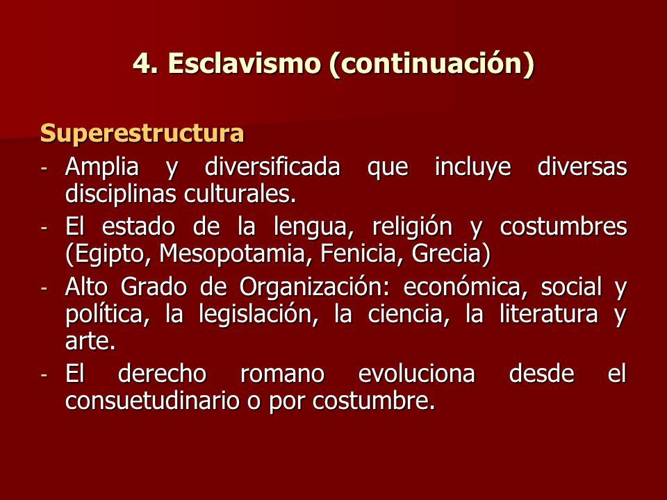 4. Esclavismo (continuación)
