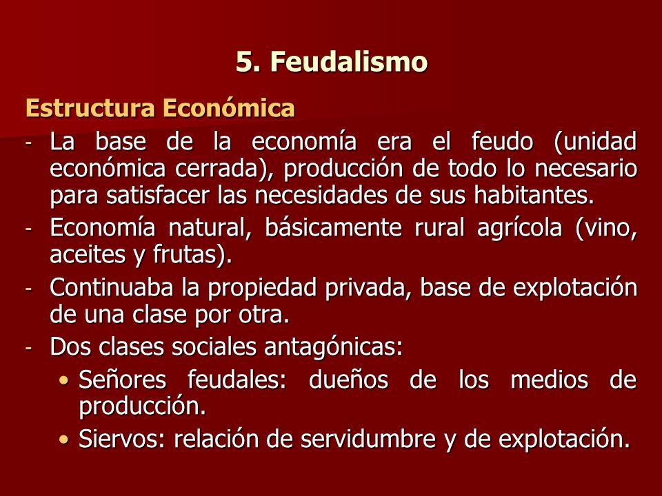 5. Feudalismo Estructura Económica